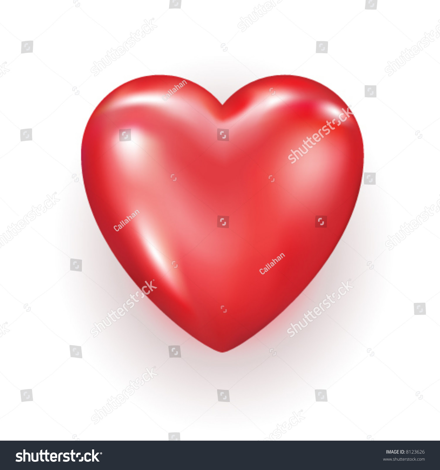 Vector Editable Heart Stock Vector 8123626 - Shutterstock