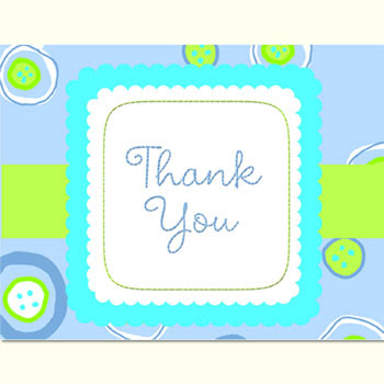 Blessed Baby Boy Baby Shower Thank You Notes 8pk Parties4kids