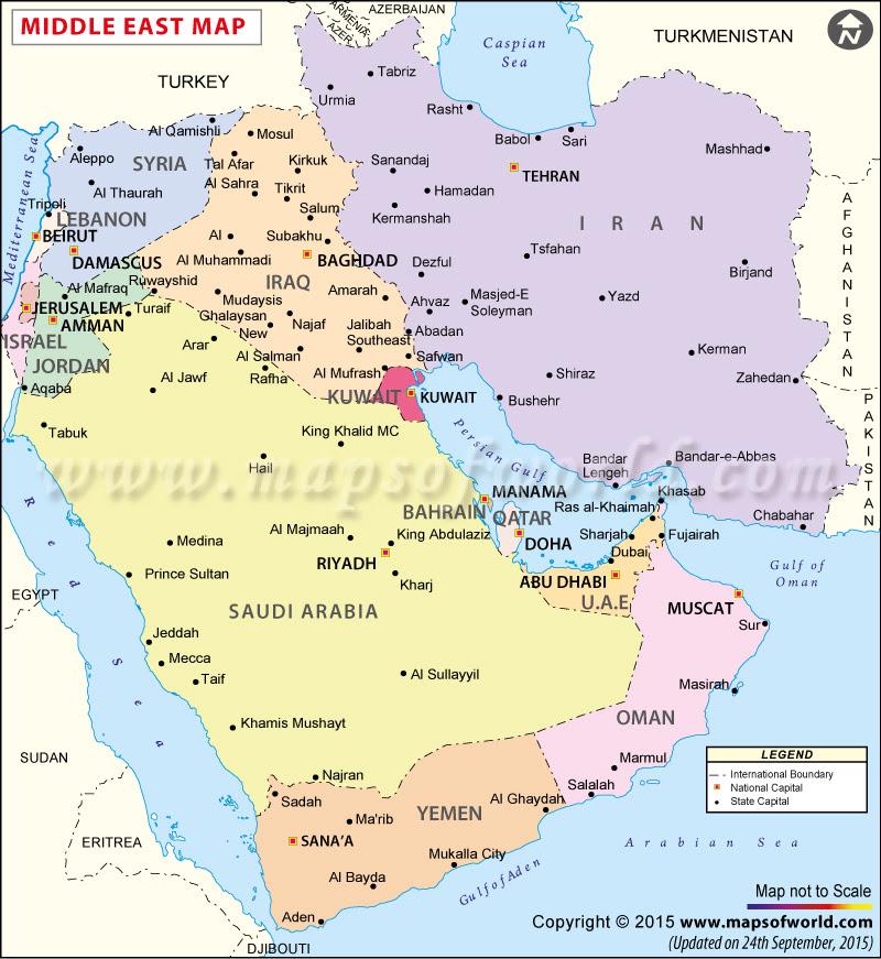 qatar uae map