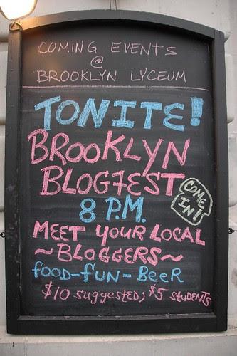 Blogfest Placard