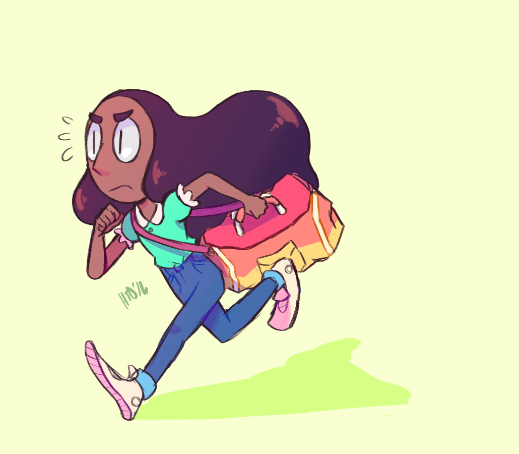 Connie running to practice!
