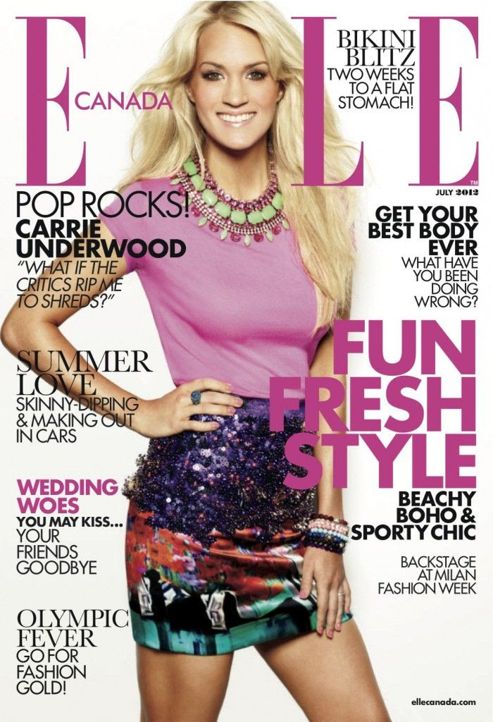 Elle Canada (July 2012), Carrie Underwood