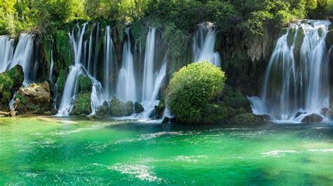 wallpaper kravice waterfalls bosnia  herzegovina