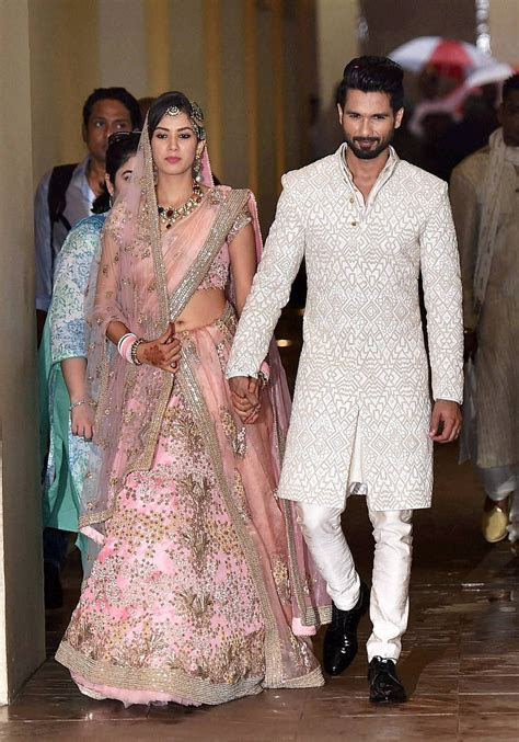 Shahid Kapoor with his bride Mira   Shahid ki Shadi in