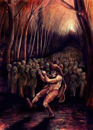 Una de las representaciones temáticas más oscuras del flautista de Hamelin