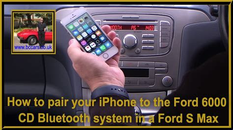 pair  iphone   ford  cd bluetooth