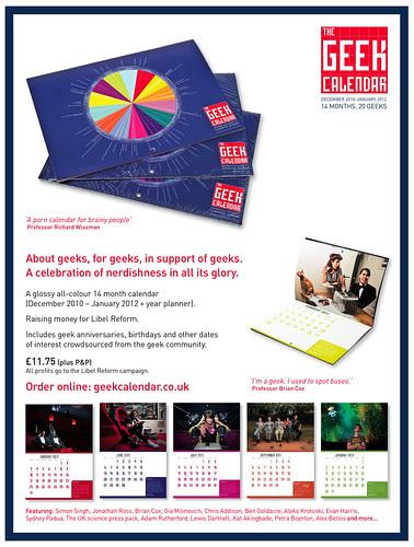 Geek Calendar flyer