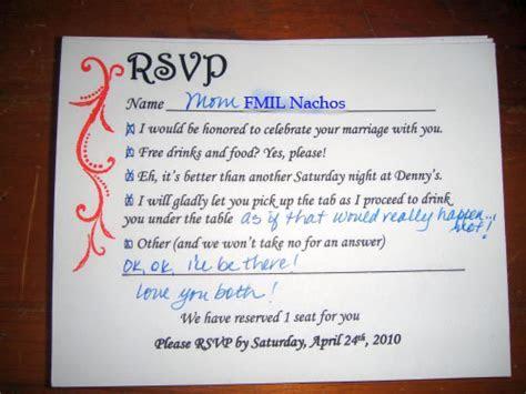 Tales of a Tech Savvy Wife: Fun R.S.V.P. Wording?
