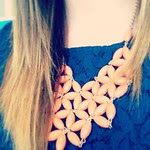 Loving my new JCrew factory necklace! Although not sure how I feel about wearing florida gator colors ;)