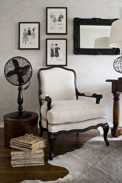 black & white chair - I want!