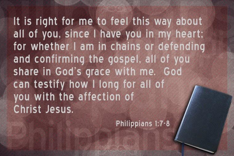 Philippians 1:7-8