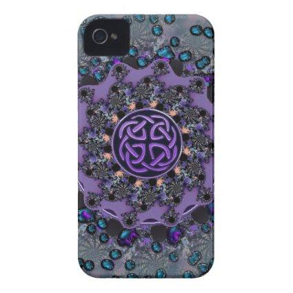 Jeweled Celtic Fractal Mandala iPhone 4 Covers