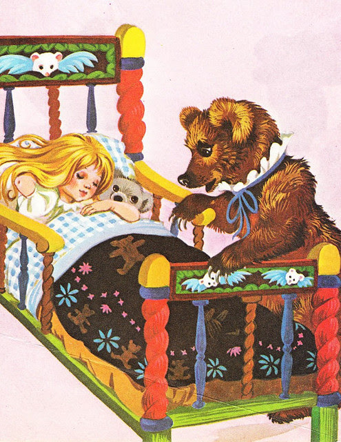 Goldilocks and the Three Bears Vintage Illustration Storybook Print Deans A Book of Fairy Tales