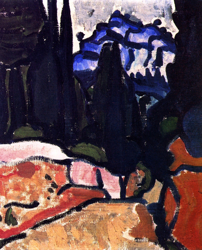 The Cypresses at Cassis André Derain - 1907