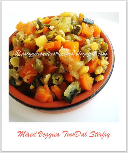 Mixed veggies toordal stirfry