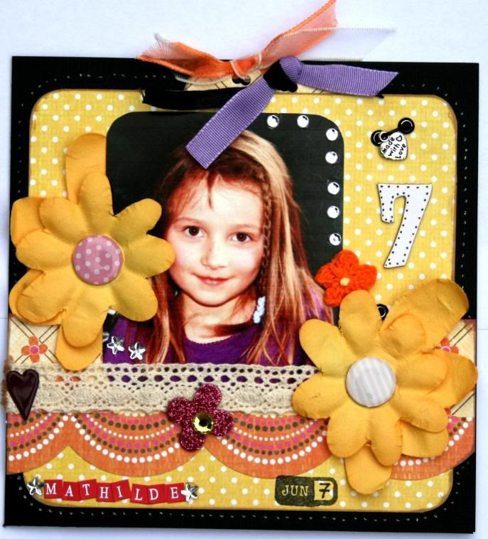 Forsiden av kortet - Mathilde 7 år