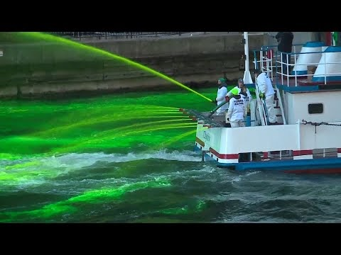 Happy St PatricksDay from @Chicago where they dye the river #green.