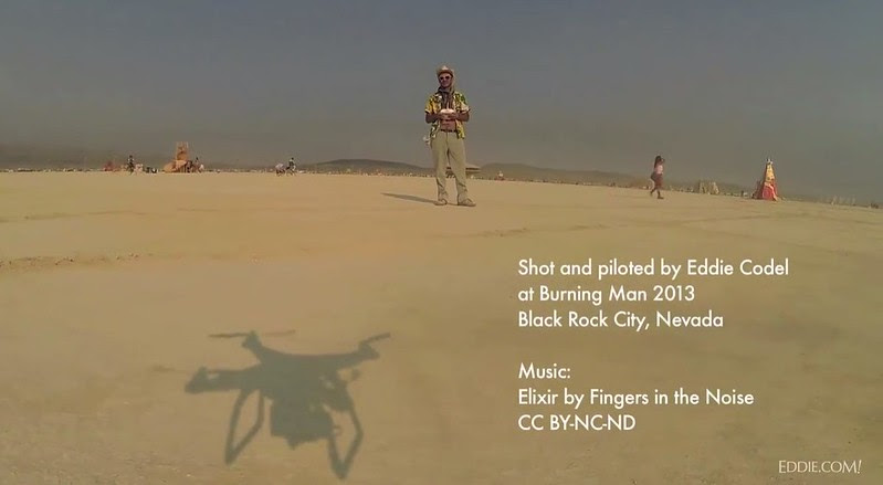 Drone's eye view of Burning Man 2013 - YouTube