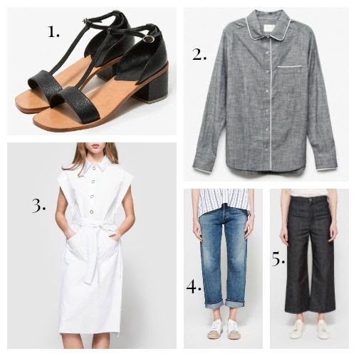 Rachel Comey Sandals - Maison Du Soir Top - C/MEO Collective Dress - Citizens of Humanity Jeans - Apiece Apart Jeans
