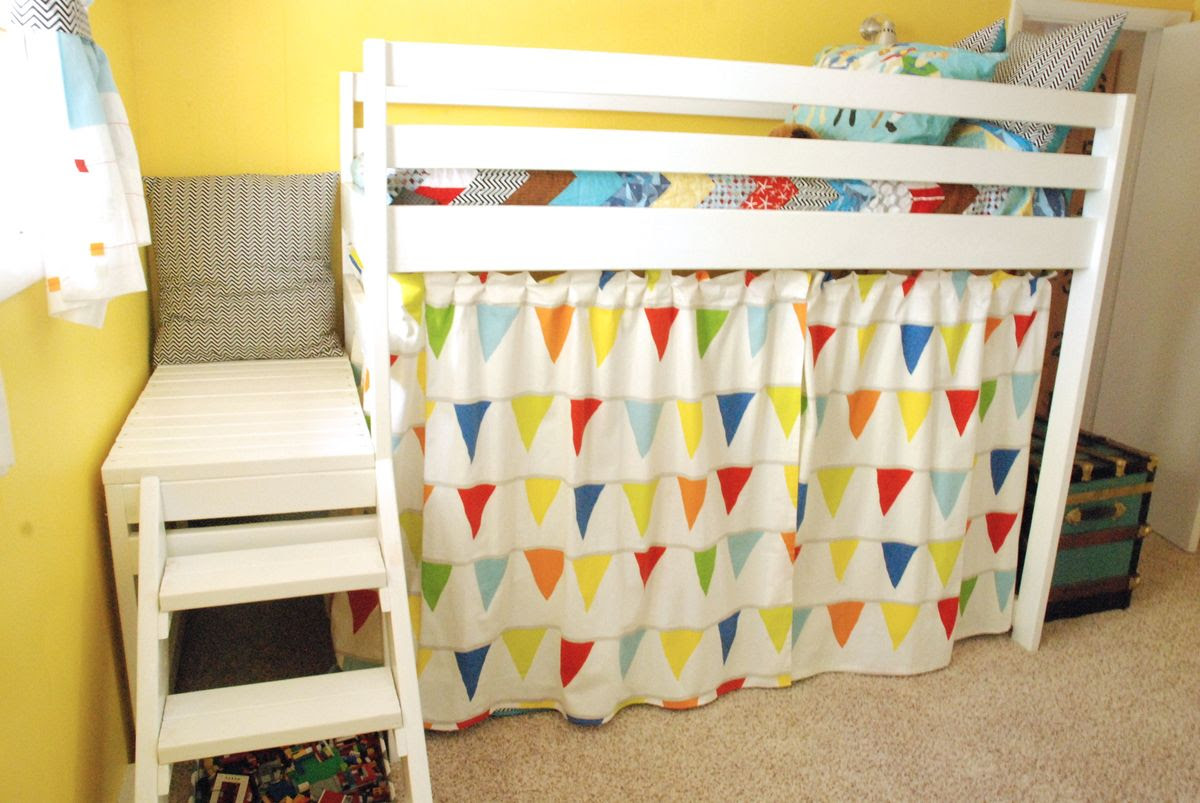DIY Jr. Camp Loft Bed with Curtain | Do It Yourself Home Projects ...