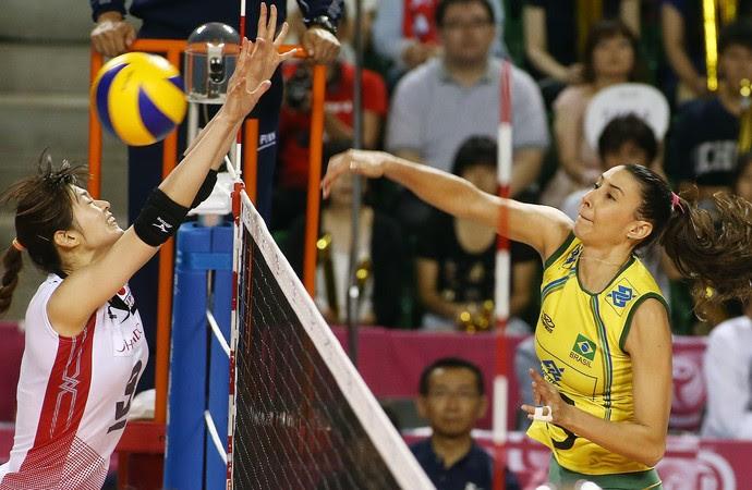 Brasil x Japão final Grand Prix vôlei Sheilla (Foto: Divulgação/FIBV)