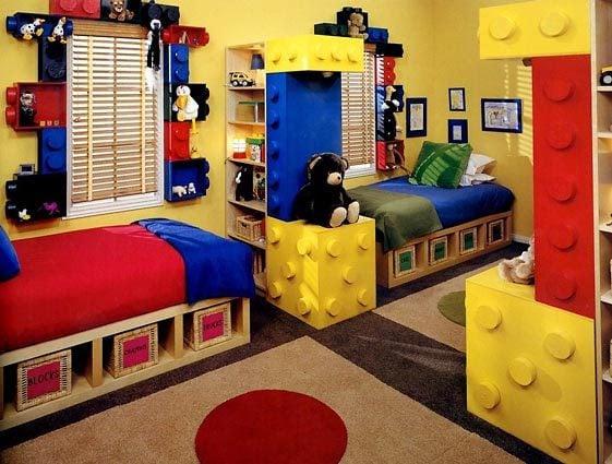Industrial Shelves in Boys Room - Design Dazzle