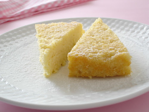 Damp lemon and almond cake