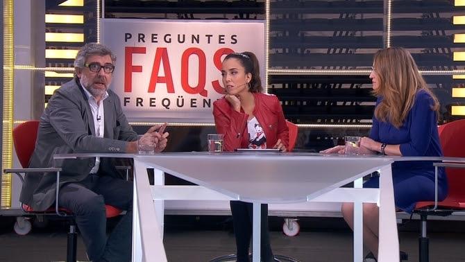 """Jordi Pina i Marina Roig al """"Preguntes freqüents"""" de TV3"""