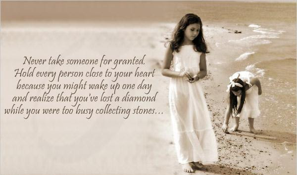Never Take Someone For Granted Quote Picture