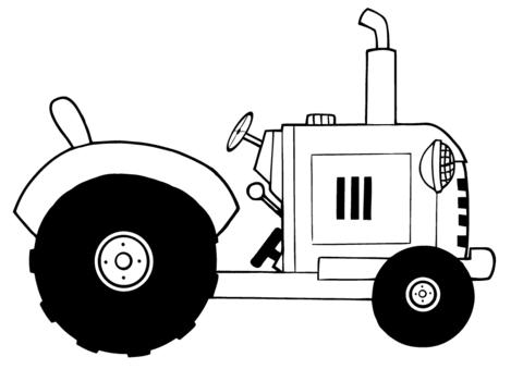 Dibujo De Tractor Agrícola Vintage Para Colorear Dibujos Para