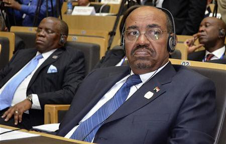 President Omar Hassan al-Bashir of the Republic of Sudan attending the African Union Summit in Addis Ababa, Ethiopia. The Summit was originally slated for Malawi but President Banda violated AU protocol by not hosting due to Bashir's anticipated presence. by Pan-African News Wire File Photos