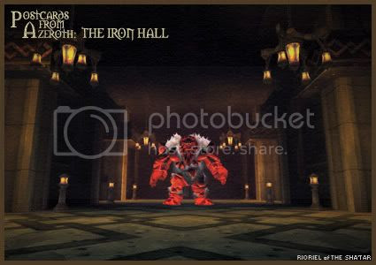 Postcards of Azeroth: The Iron Hall, by Rioriel Ail'thera