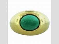 18K Yellow Gold Turquoise Cabochon Mens Ring Boca Raton