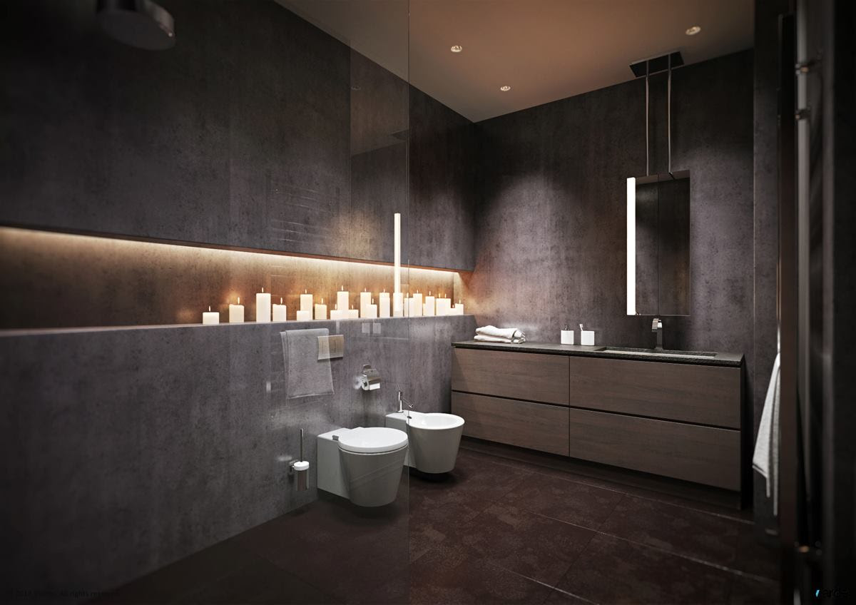 15 modern grey bathroom | Interior Design Ideas.