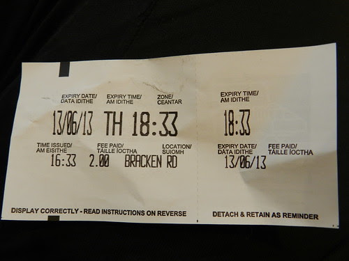 My first pay & display ticket =D