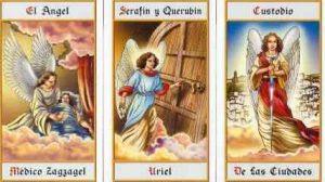 Zagzagel, Uriel y Custodio representan el Noveno Coro.