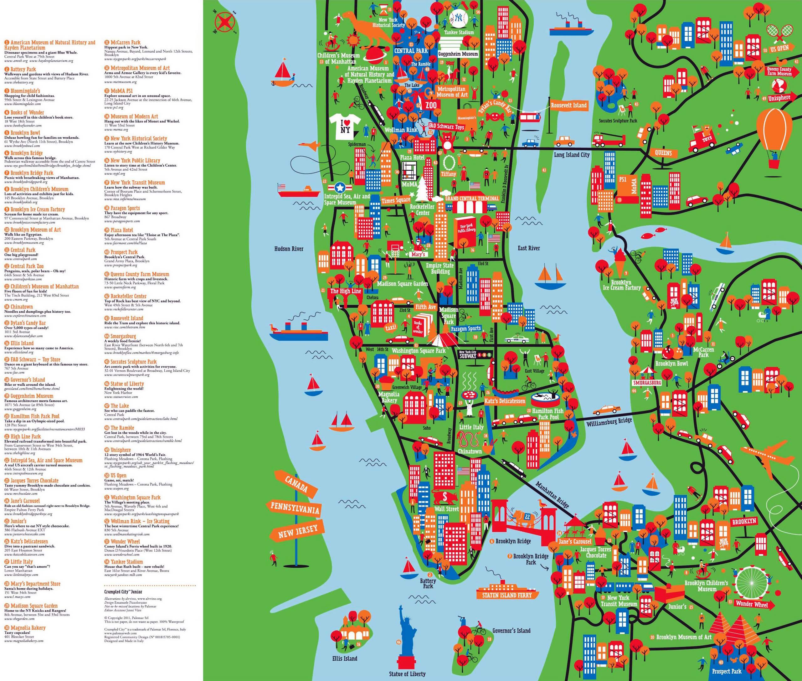 Nyc Attractions Map Map Of New York City Tourist Attractions | Map Of Us Western States