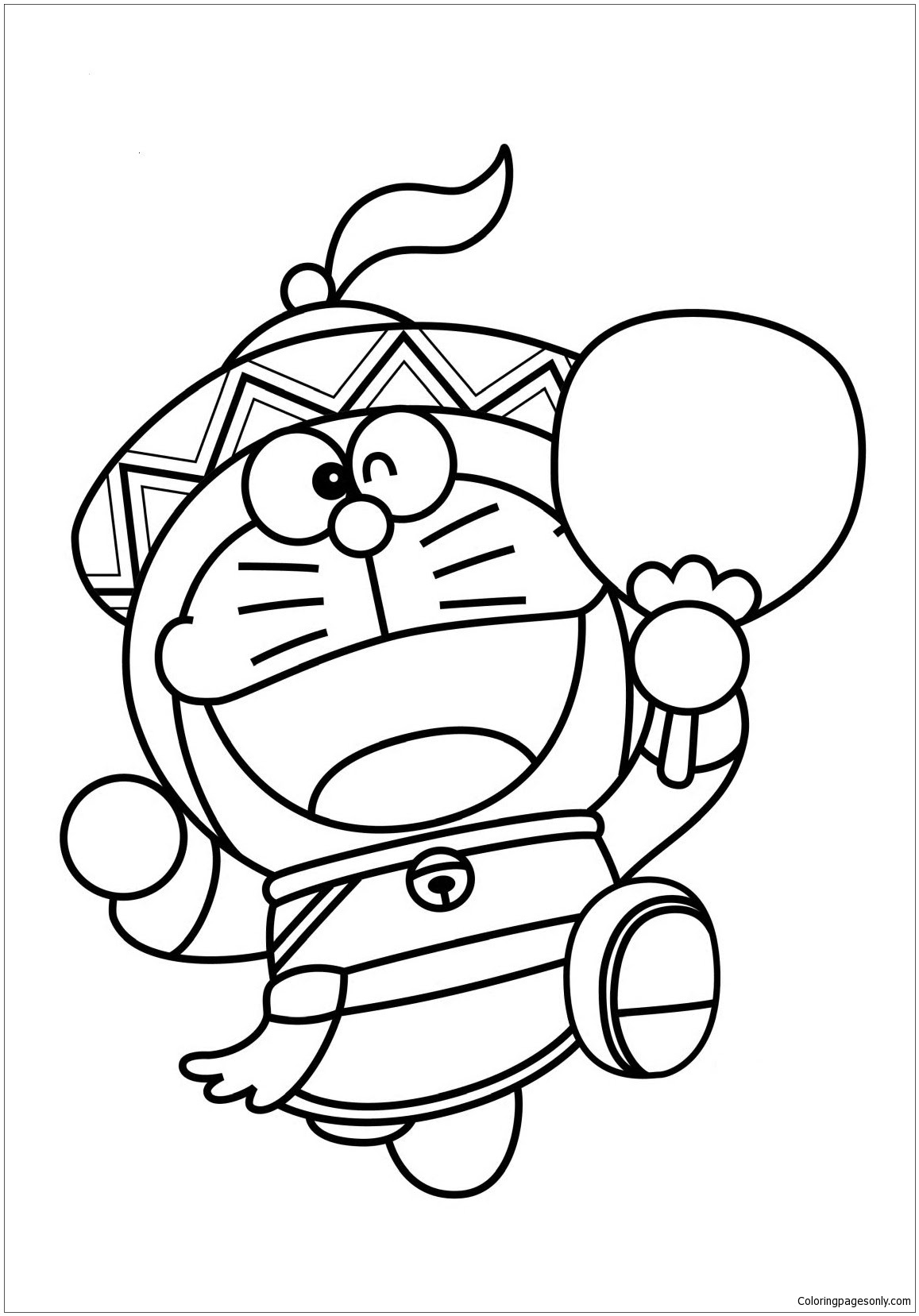 Doraemon As Chinese Coloring Page Free Coloring Pages Online