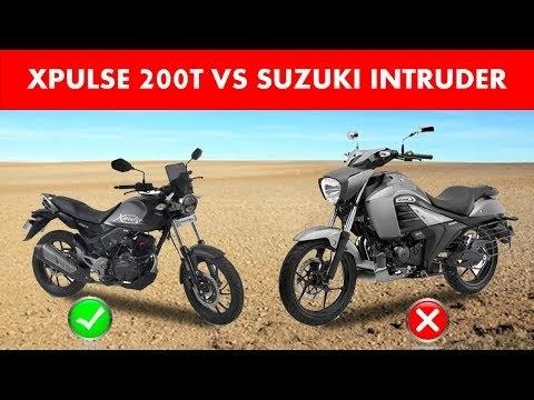 Comparison : Hero Xpulse 200T VS Suzuki Intruder | best bike under 1 lakh budget