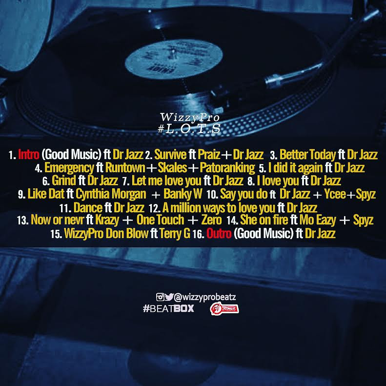 WizzyPro Lord of the Sounds Tracklist