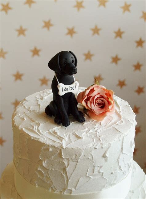 Labrador cake topper dog wedding cake topper black