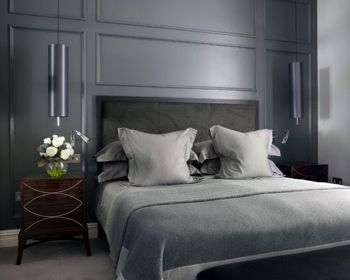 Grey Bedroom Home Design Ideas, Pictures, Remodel and Decor
