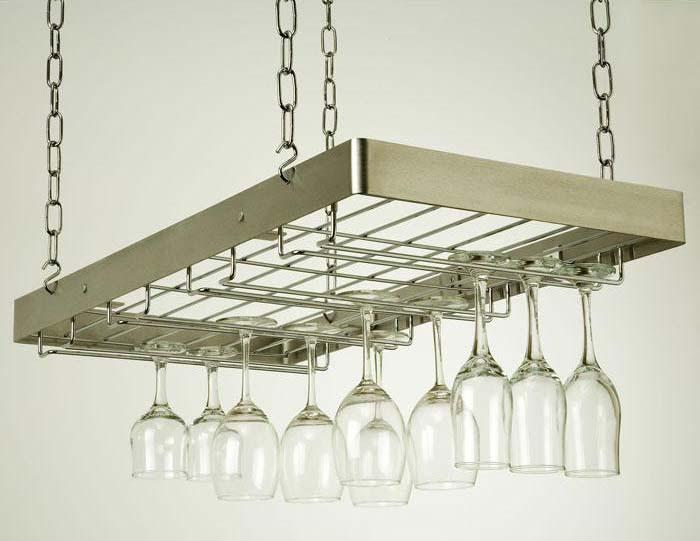 Best Ever Metal Hanging Wine Glass Rack