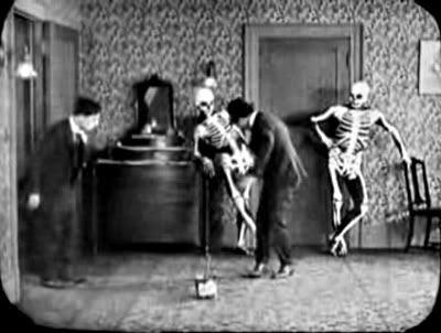 Buster Keaton Haunted House Skeletons