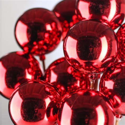 Red Christmas Ornament Picks   Picks   Sprays   Floral