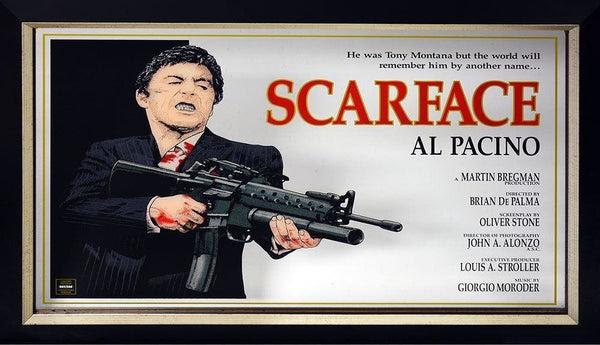 Al Pacino Scarface Framed Mirror Memorabiliawarehouse