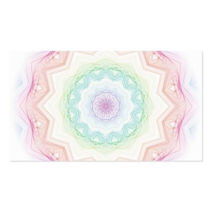 Soft Rainbow Spirograph Business Card Template
