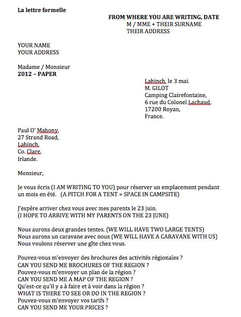 Letters Written in France