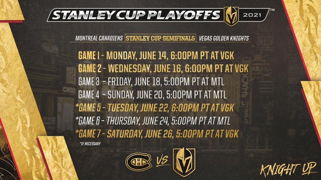 2021 Stanley Cup Semifinals Schedule