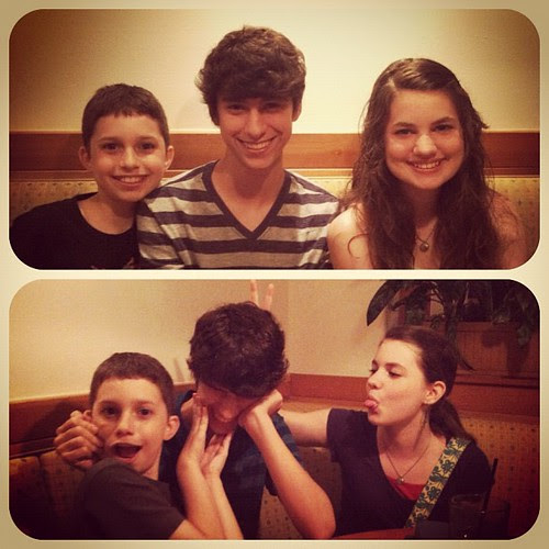 Never a dull moment when out to eat with these 3.
